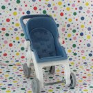 Fisher Price Loving Family Baby Blue Folding Stroller