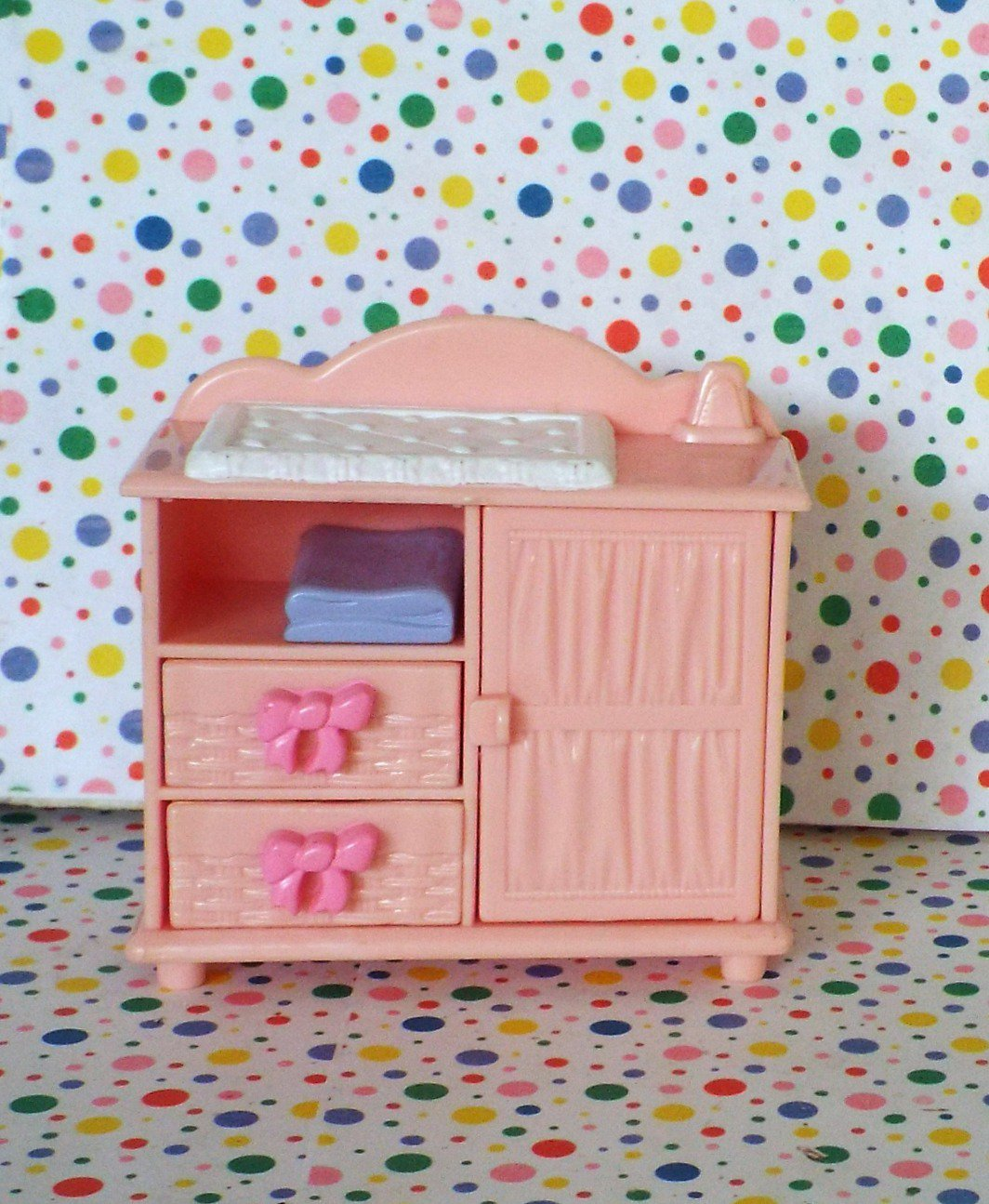 Fisher Price Loving Family Dollhouse Twin Time Nursery Pink Changing Table