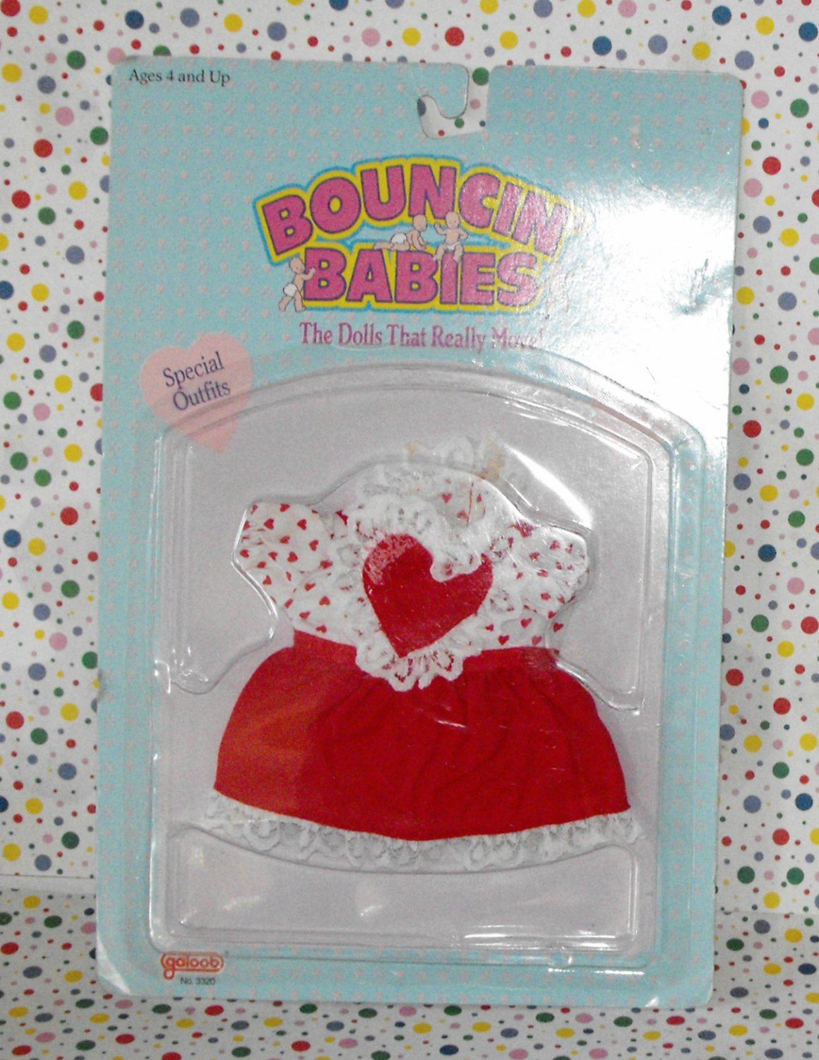 Galoob Bouncin Babies Special Outfits Sweet Heart Dress