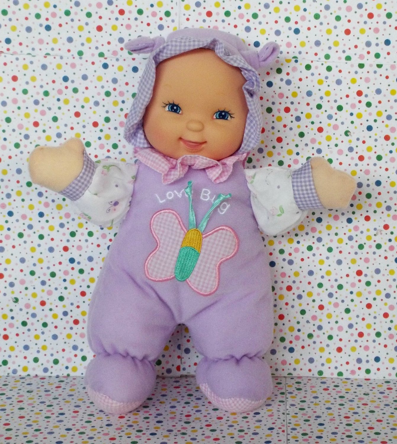 7 16 Sold Goldberger My First Baby Doll Quot Love Bug Quot Purple