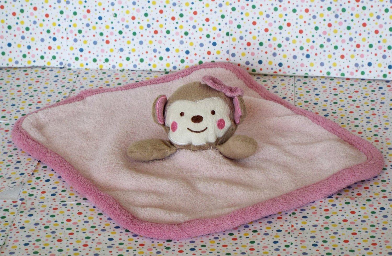 6 14 Sold Koala Baby Pink Monkey Security Blanket Lovey