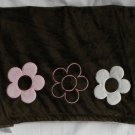 Dwell Studio Pink Brown Flowers Baby Blanket Security Lovey