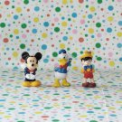 Mickey Mouse Donald Pinocchio Mini- Figure Lot