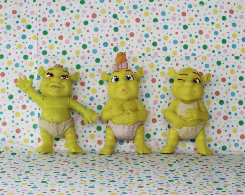 *12/15*SOLD~McDonalds Shrek the Movie Talking Baby Ogre Figures