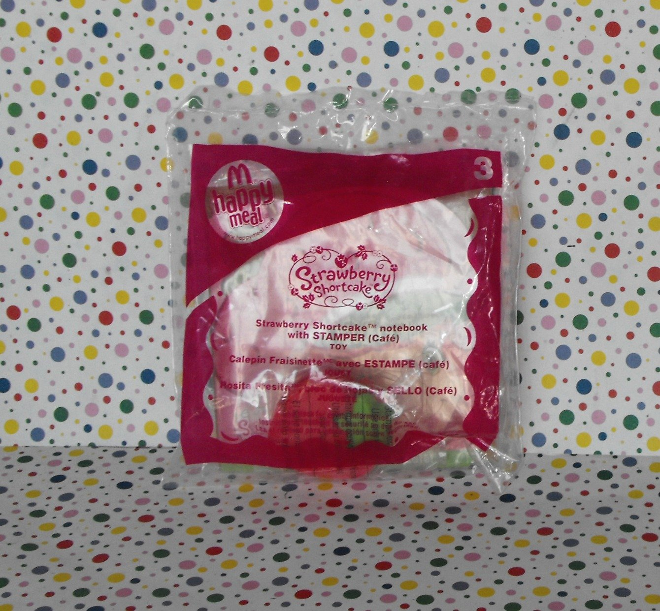 McDonalds Strawberry Shortcake 2009 Notebook and Stamper Toy