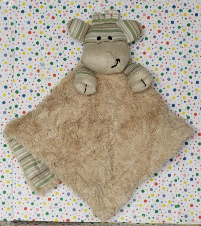 *8/14*SOLD~Koala Baby Giraffe Security Blanket Green Striped Lovey