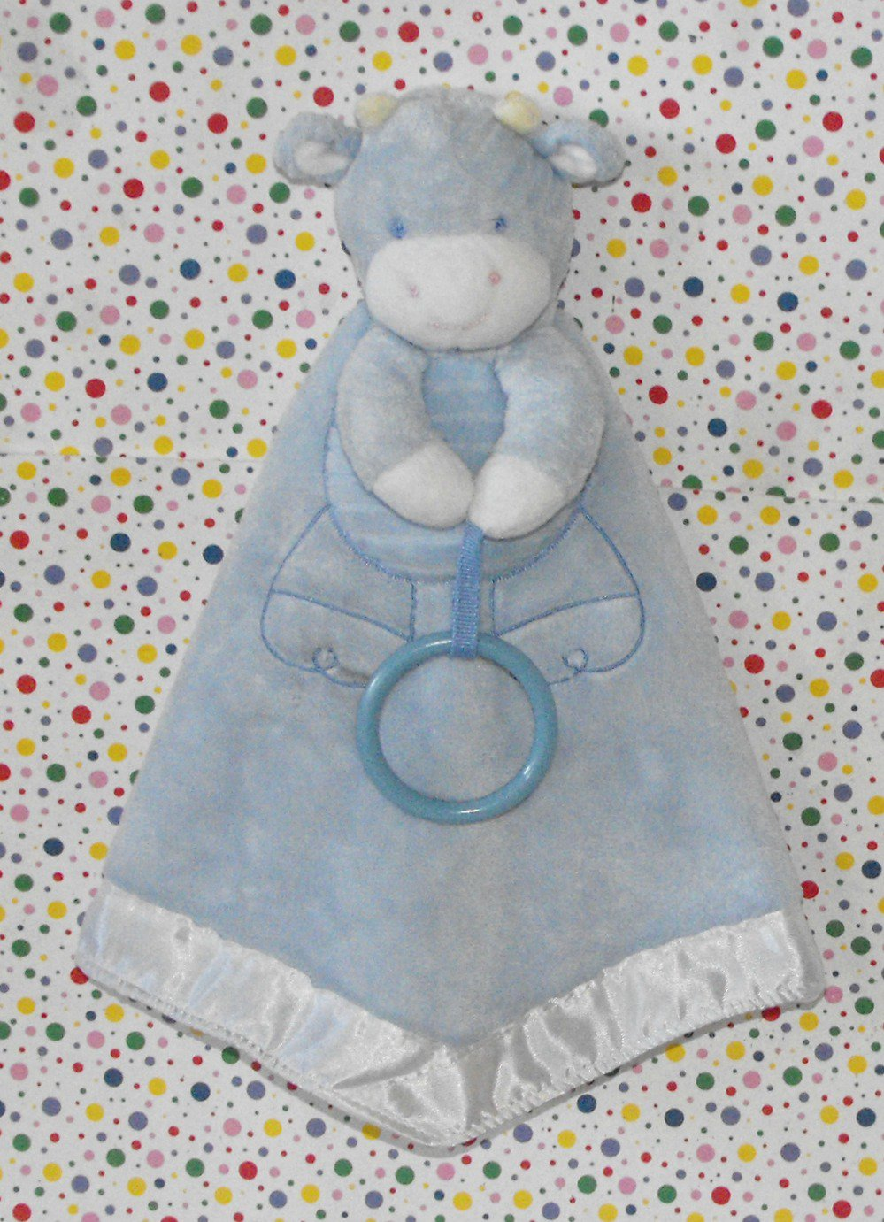 Carter S Baby Blue Cow Security Blanket Lovey
