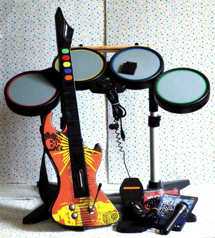 *11/14*SOLD~Playstation 2 PS2 Rock Band Set