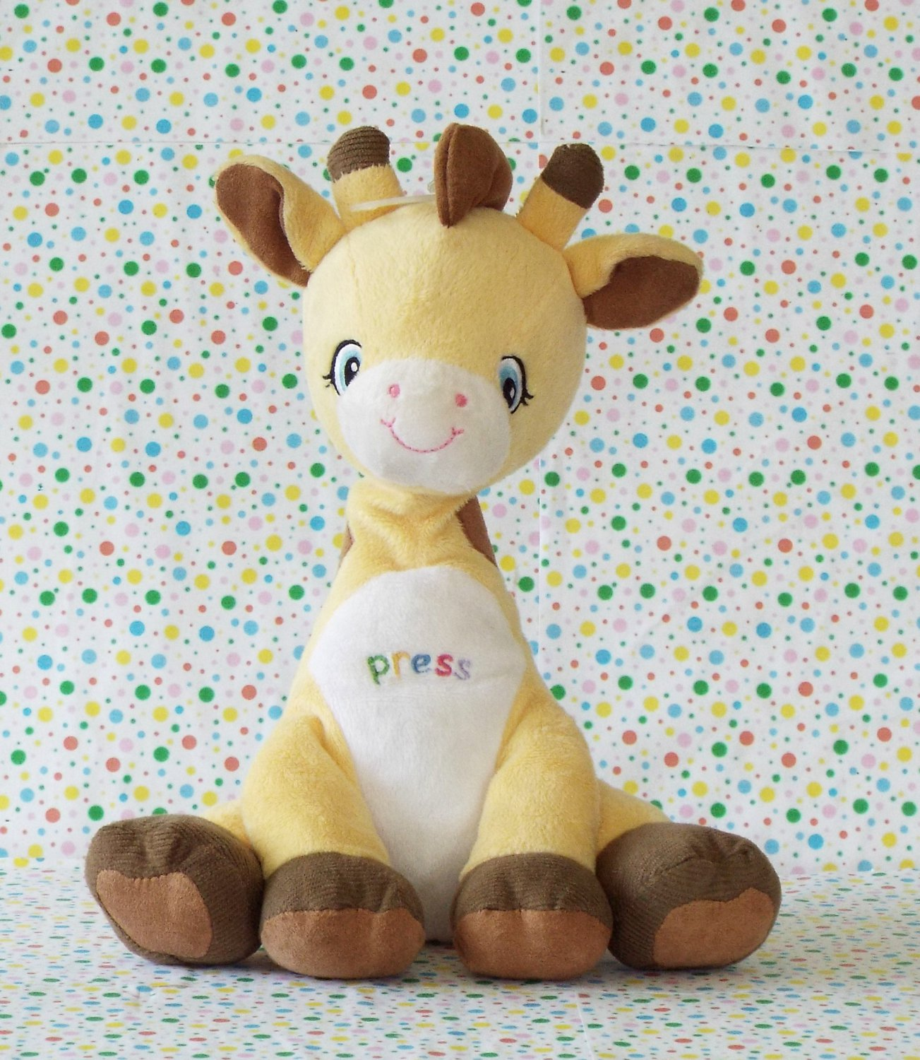 *12/16*SOLD~Garanimals Yellow Giraffe Musical Plush Crib Toy