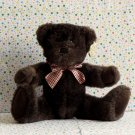 Dan Dee Collector's Choice Brown Teddy Bear Plaid Bow Lovey