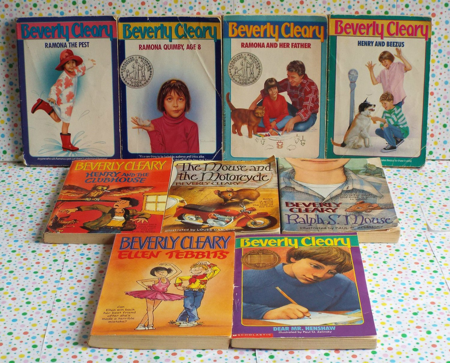 Beverly Cleary Ramona, Ralph S. Mouse, Dr. Mr. Henshaw Chapter Book Lot