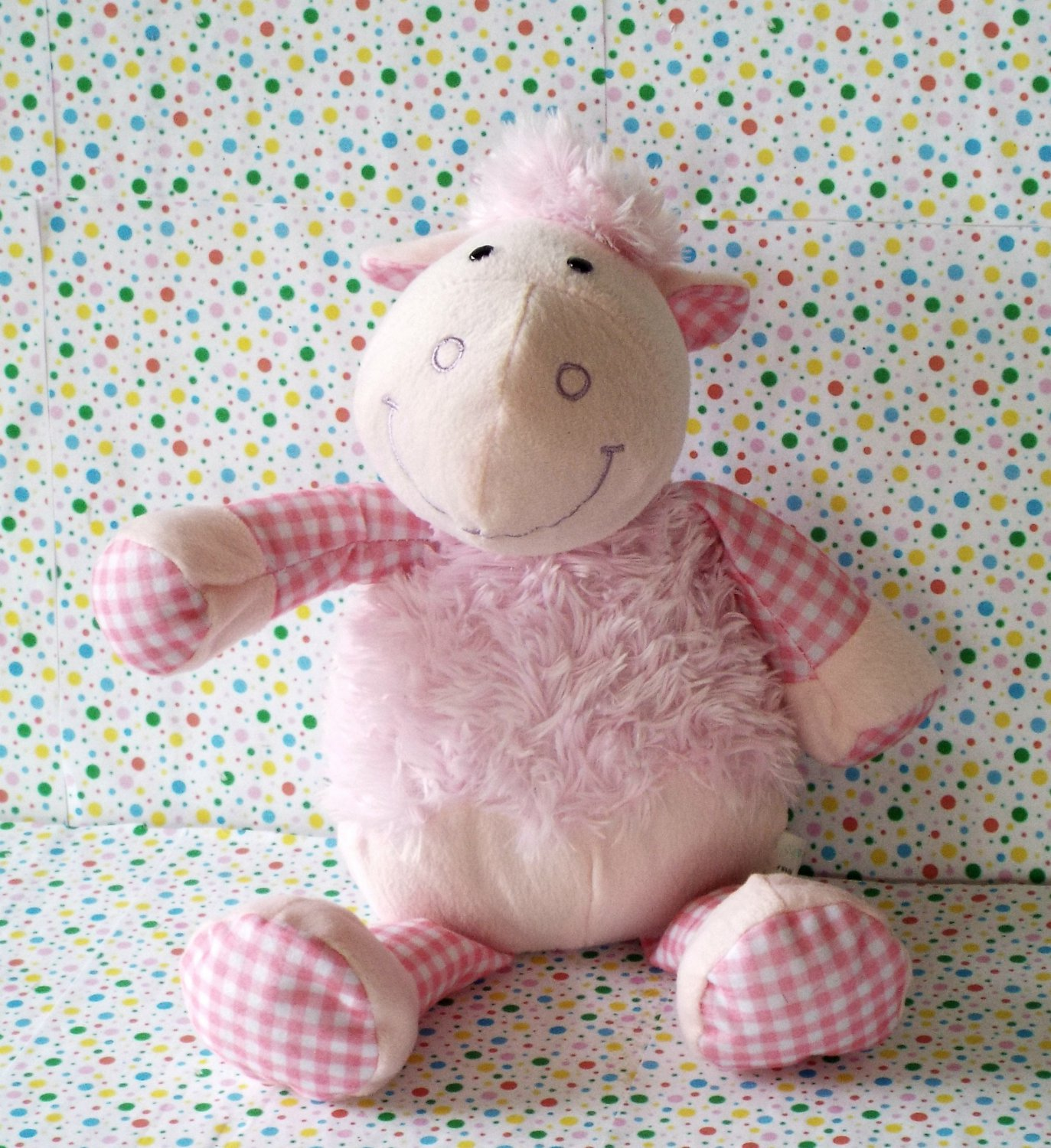 Pink Sheep Lamb Lovey Easter Gift Goody Toy