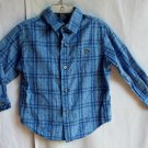 Boys Claiborne 3T Blue Plaid Longsleeve Button Up Shirt