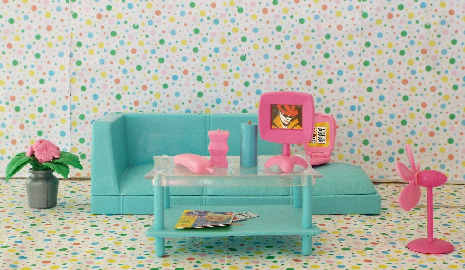 Barbie All Around Home Family Room Doll Furniture Parts
