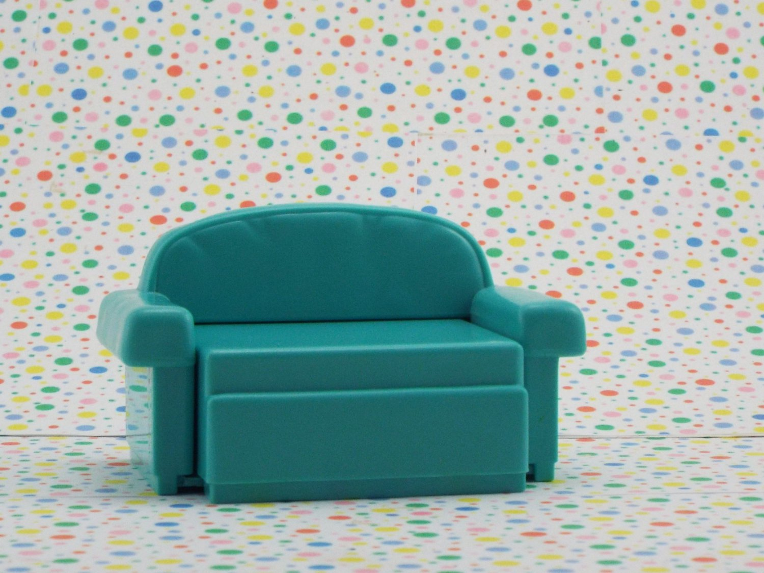 Fisher Price Loving Family Dollhouse Green Pull Out Couch
