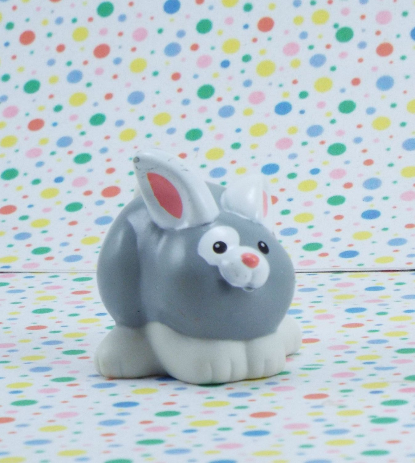 Fisher Price Little People Play n' Go Campsite Gray Bunny