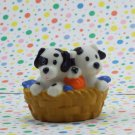 Fisher Price Little People Dalmation Puppies in a Basket