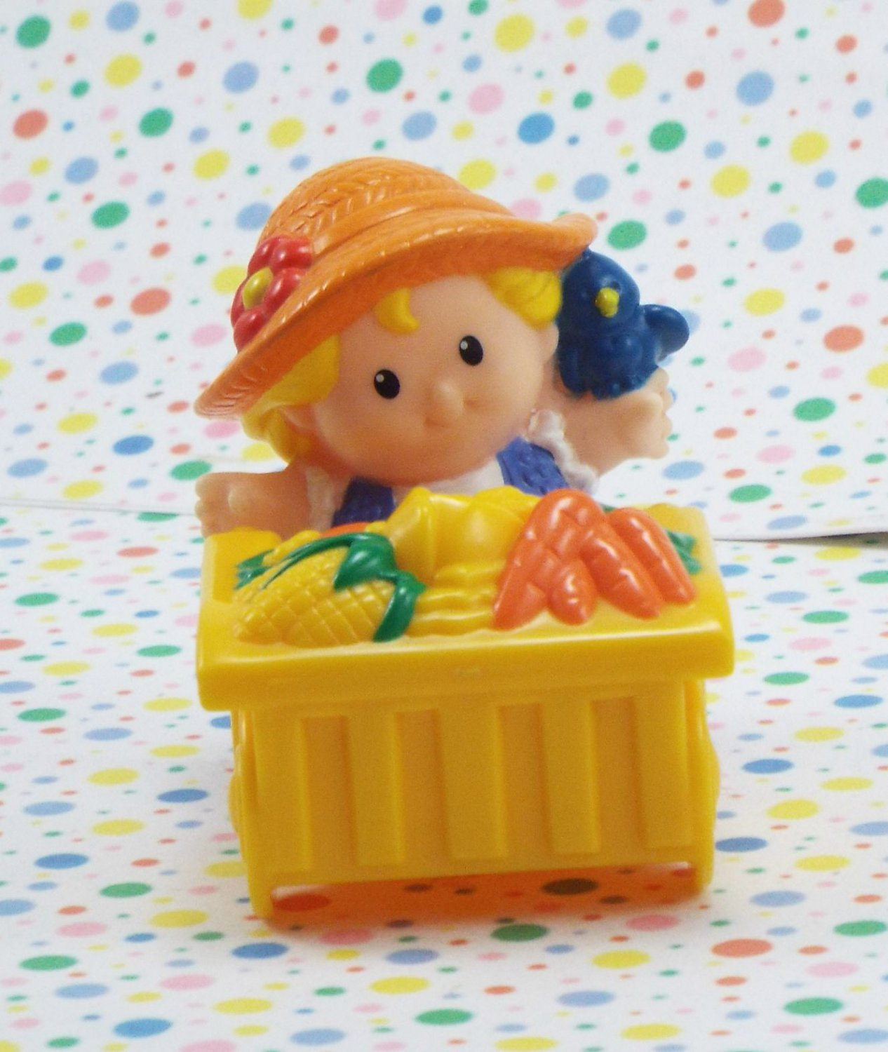 Fisher Price Little People Baby Farm Animals Sarah Lynn and Cart