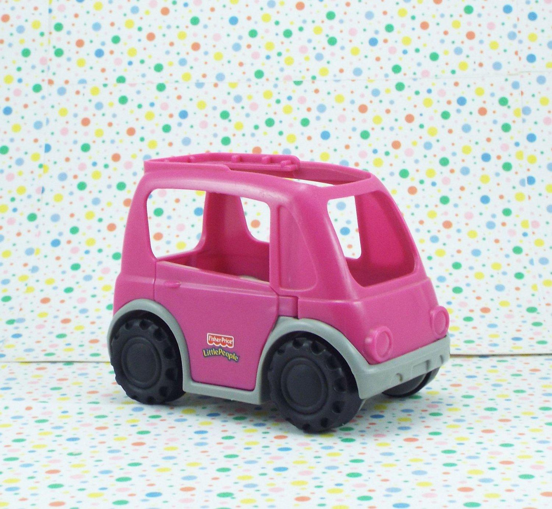 Fisher Price Little People Neighborhood Vehicles Purple Minivan