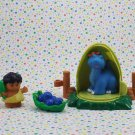 Fisher Price Little People Lil Dino Brontosaurus Parts Lot