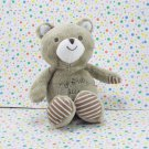 Carter's Child of Mine My First Bear Rattle Brown Striped Feet