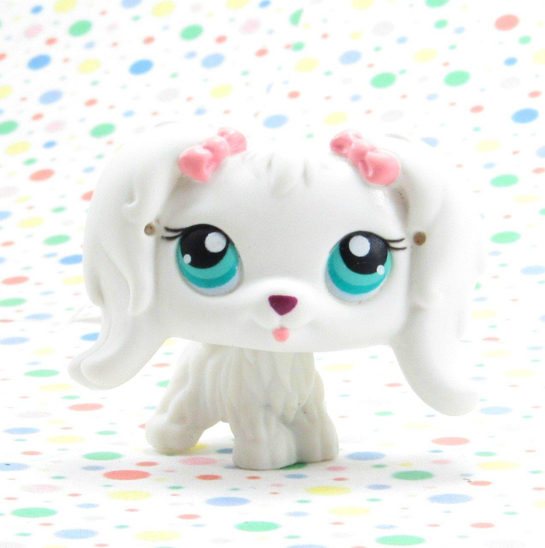 Littlest Pet Shop #65 White Maltese~Portable Pets LPS
