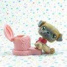 Littlest Pet Shop #2 Brown Pug ~ LPS First Pets