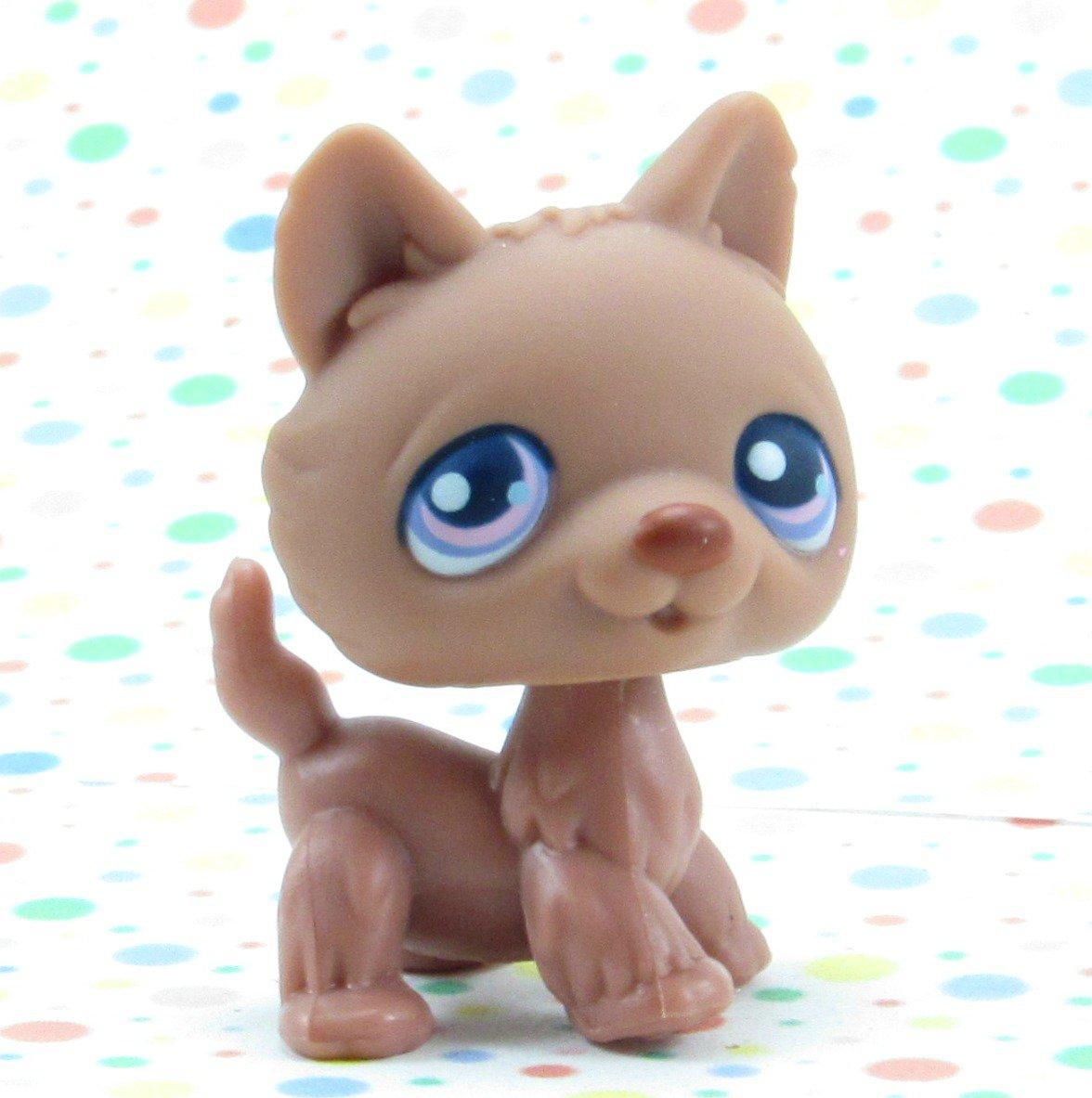 *3/17*SOLD~Littlest Pet Shop #38 Brown husky Dog ~ LPS  Winter Puppy