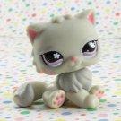 Littlest Pet Shop #609  Gray Cat ~ LPS Cuddliest