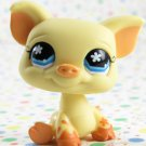 Littlest Pet Shop #475 White and Brown Cow ~ LPS Petting Zoo Pig