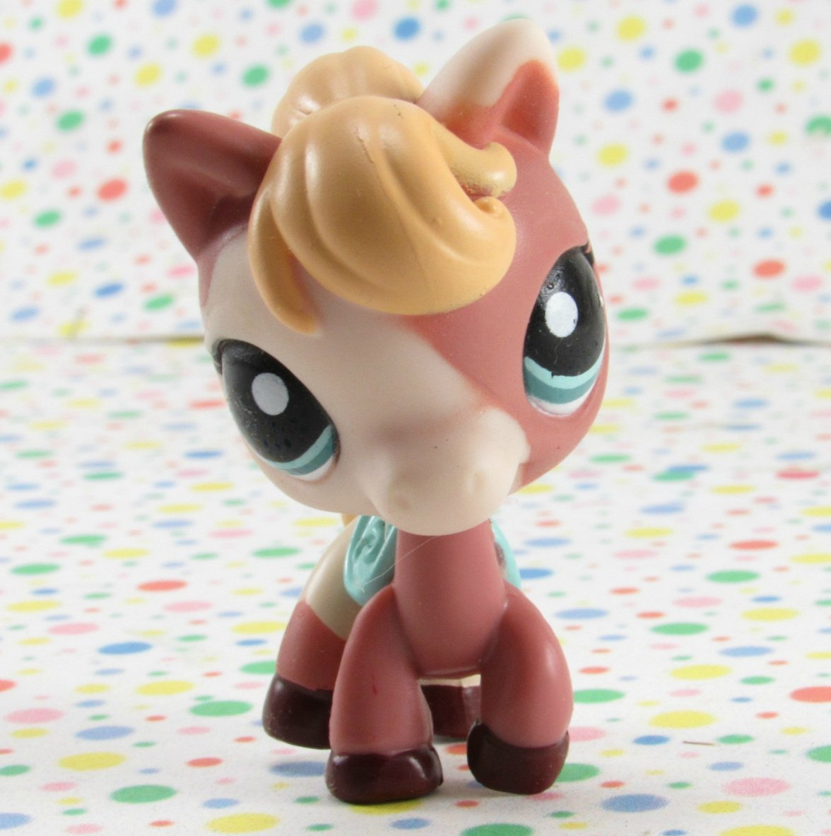 Littlest Pet Shop #1629 Brown and White Horse ~ LPS Collector Diary Pet