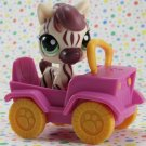 Littlest Pet Shop #1490 Cream and Purple Zebra ~ LPS Search N' Safari