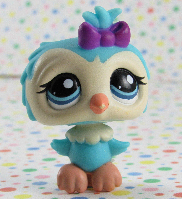 Littlest Pet Shop #1569 Blue Owl  ~ LPS Collector's Pack