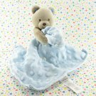Carter's Child of Mine Brown Bear Rattle Blue Security Blanket Lovey