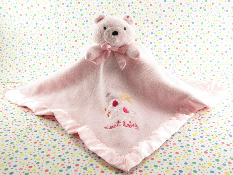 Carter's Pink Sweet Baby Bear Lovey Security Blanket