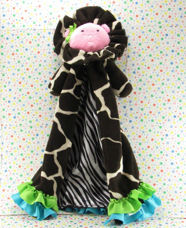 11/19*SOLD~   Mudpie Baby Lion Giraffe Security Blanket Lovey