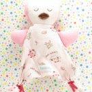 Vitamins Baby Owl Thumbie Security Blanket Lovey Pink Brown
