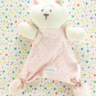 Vitamins Baby Bear Security Blanket Lovey Pink Brown Polka-Dot