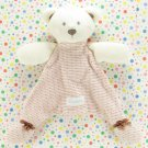 Vitamins Baby Bear Security Blanket Lovey Pink Brown Striped Polka-Dot