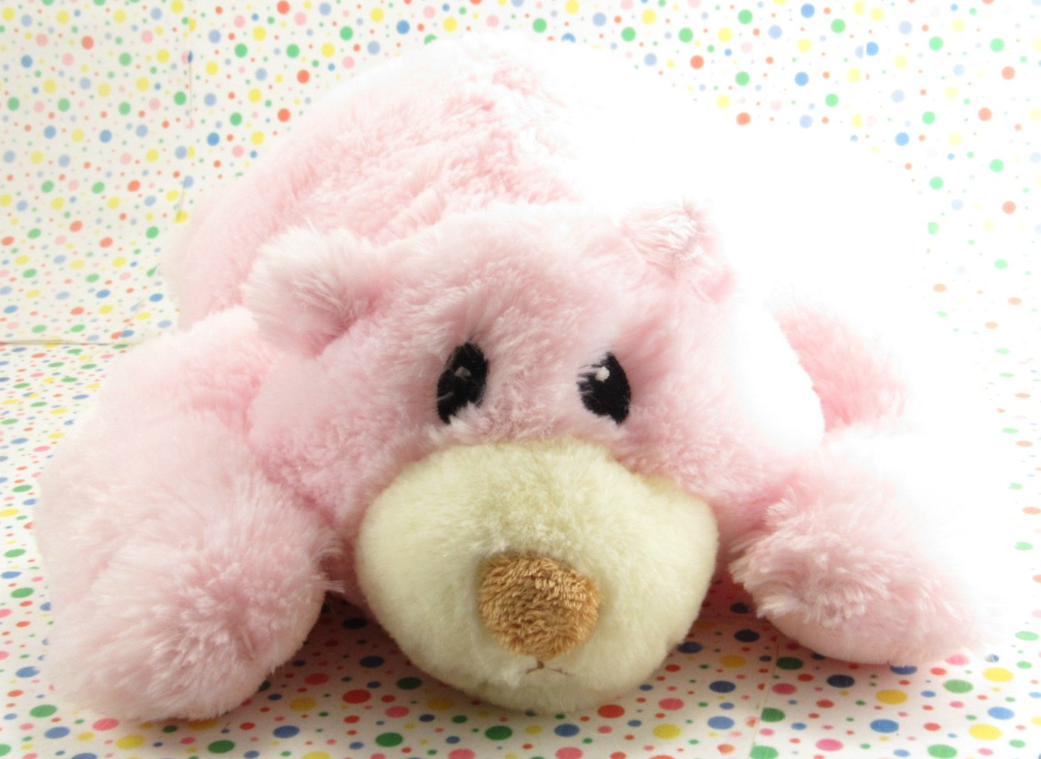 Aurora Pink Teddy Bear Floppy Bear Baby Toy Plush Lovey