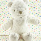 Disney Winnie the Pooh Bear Rattle Crochet White Bear Baby Toy Plush Lovey
