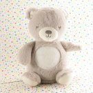 Carter's Gray Night Light Bear Glow Tummy Bear Crib Toy