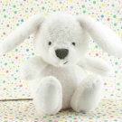 Carter's White Bunny Rattle Baby Toy Plush Lovey