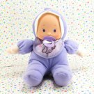 My Sweet Love Soft Baby Doll  Purple Puppy Bib City Toy Baby Doll Lovie