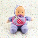 My Sweet Love Soft Baby Doll Purple Bird Bib City Toy Baby Doll Lovie