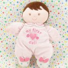 Carter's Child of Mine Doll Brown Short Hair Pink Baby Doll Lovey