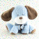 Carter's Blue Brown Puppy Baby Toy Plush Lovey