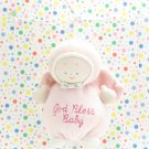 Baby Gund God Bless Baby Pink Angel Rattle Lovey Gund Angel