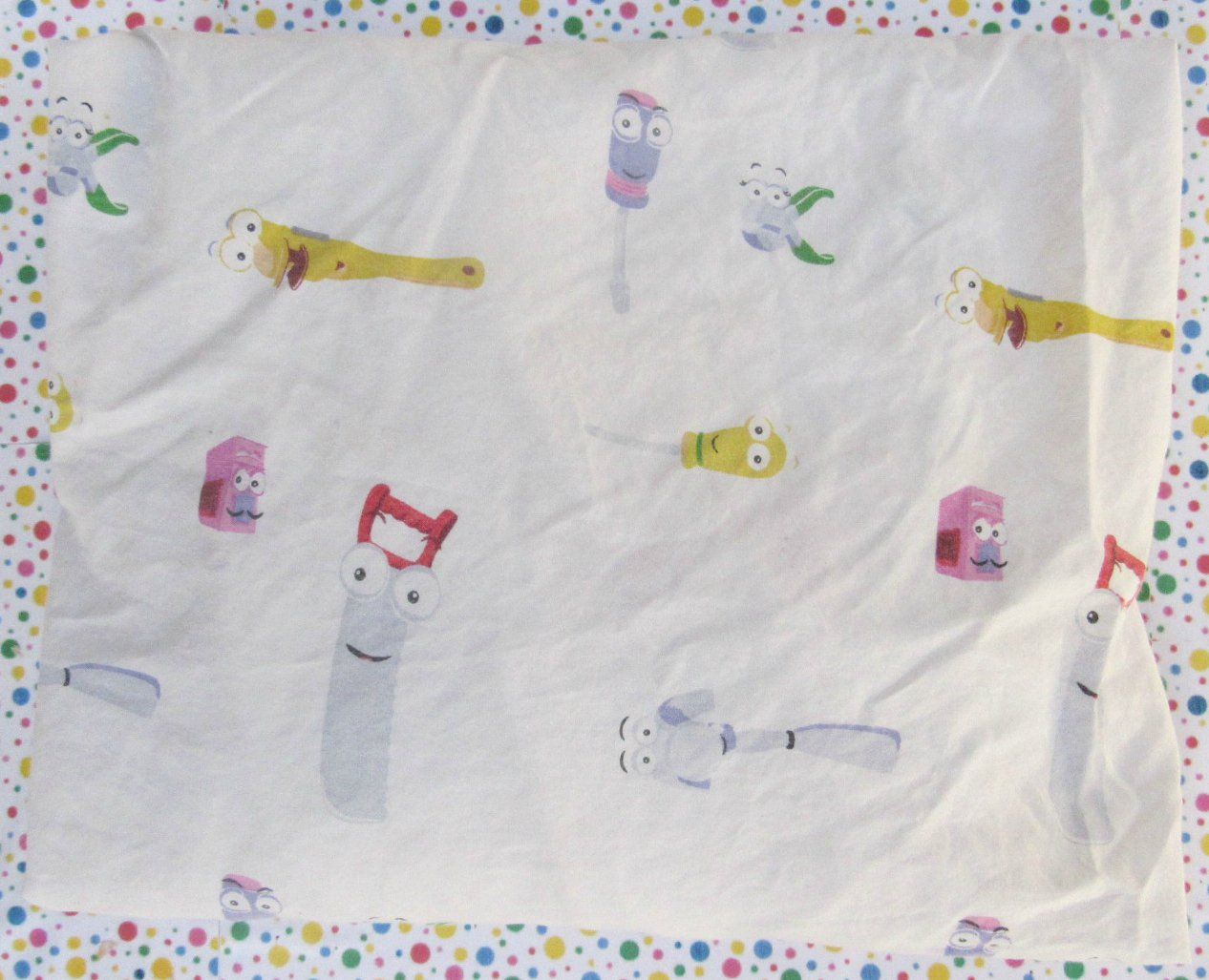 "Disney Handy Manny ""We Fix It"" Toddler Bed Fitted Sheet"