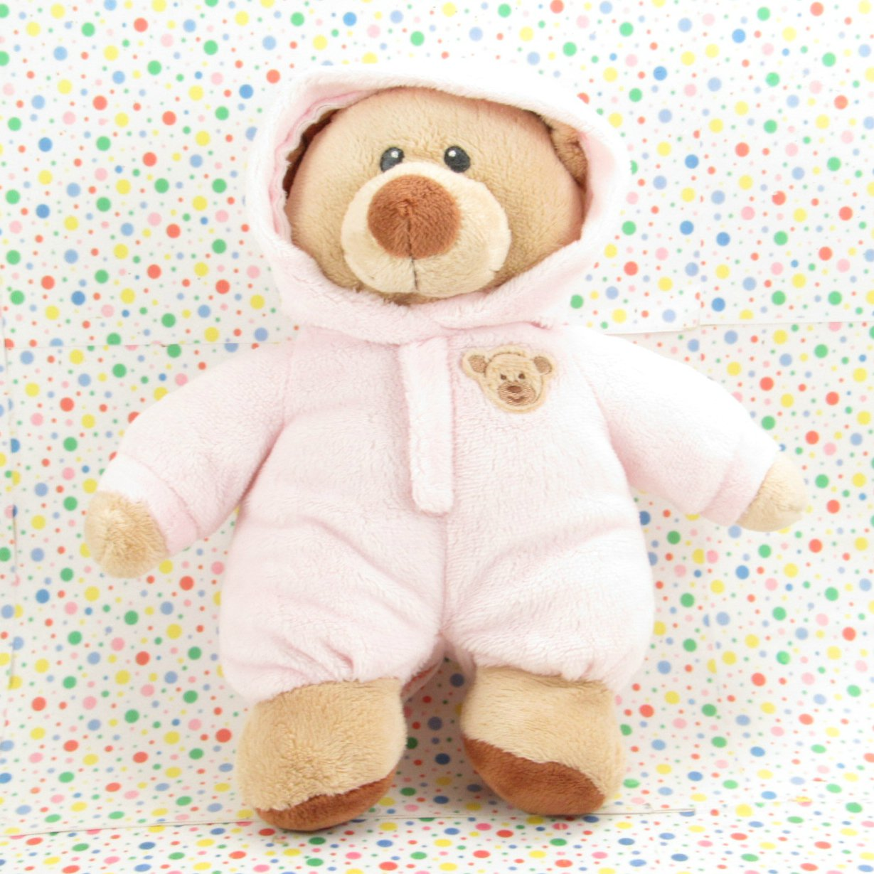 Ty Pluffies Pink Baby Bear Baby Toy Plush Lovey